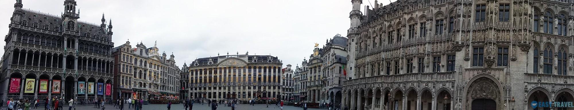 Панорамна от Гран Пласе в Брюксел.