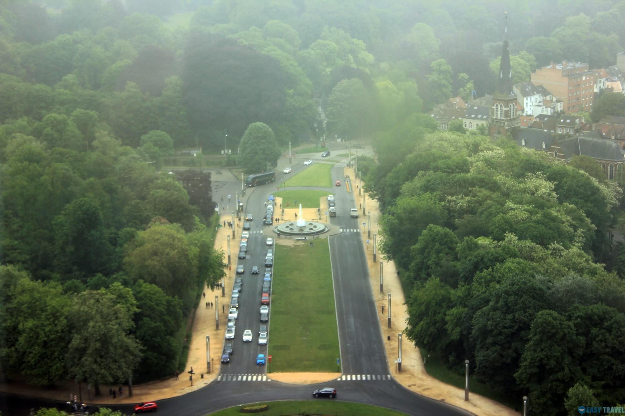 Панорама на Брюксел от Атомиума